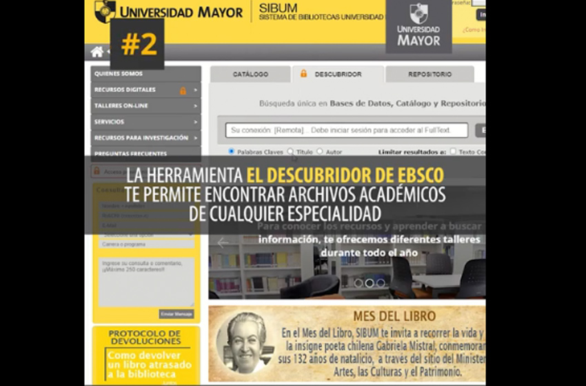 ¿Conoces la biblioteca digital U. Mayor?